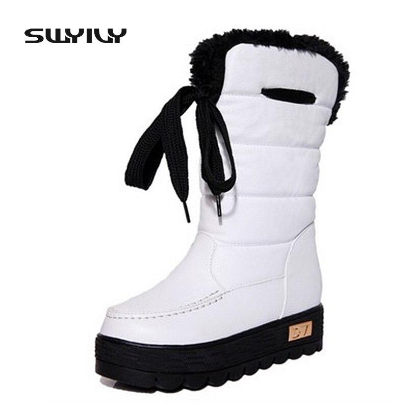 Schuhe Neue Ankunft Natürliche Kuh Leder Männer Winter Stiefel Super Warm Mens Schnee Stiefel Schuhe Mode Schnalle Luxus Marke Desing Ankle Stiefel Reinweiß Und LichtdurchläSsig