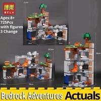 BELA 10990 Minecraft building bricks Bedrock Adventures Compatible legoinglys LEPINings 21147 model kit Blocks toys for children