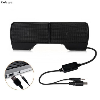 Column Speakers USB Stereo line Controller Hot 1 Pair Mini Portable Soundbar Laptop Notebook PC Computer with Clip