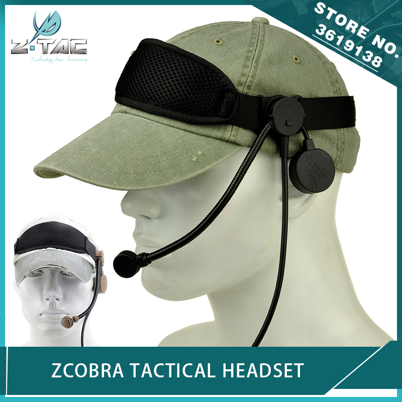 Z-Tactical Military Airsoft zCobra Headset Adjustable Durable Outdoor Hunting Communication Headphone Without PTT AdapterZ-Tactical Military Airsoft zCobra Headset Adjustable Durable Outdoor Hunting Communication Headphone Without PTT Adapter