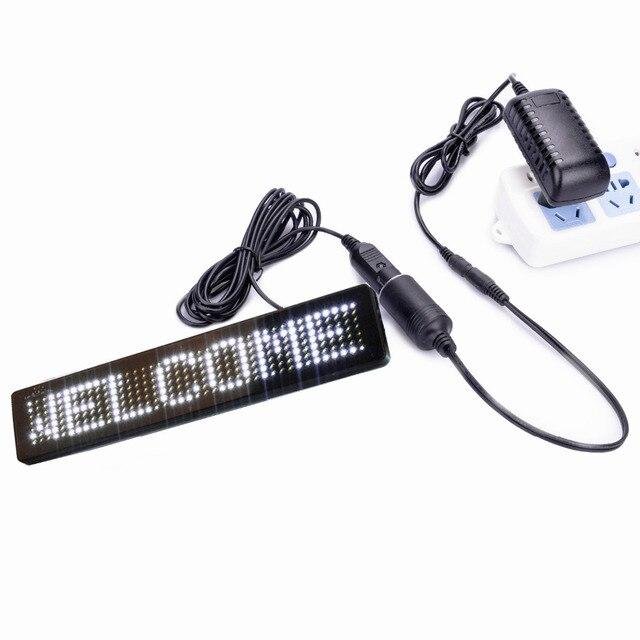 DIY белый AC 100-240 В напряжение магазин выход: DC12V Дистанционного Управления Автомобиля СИД табло