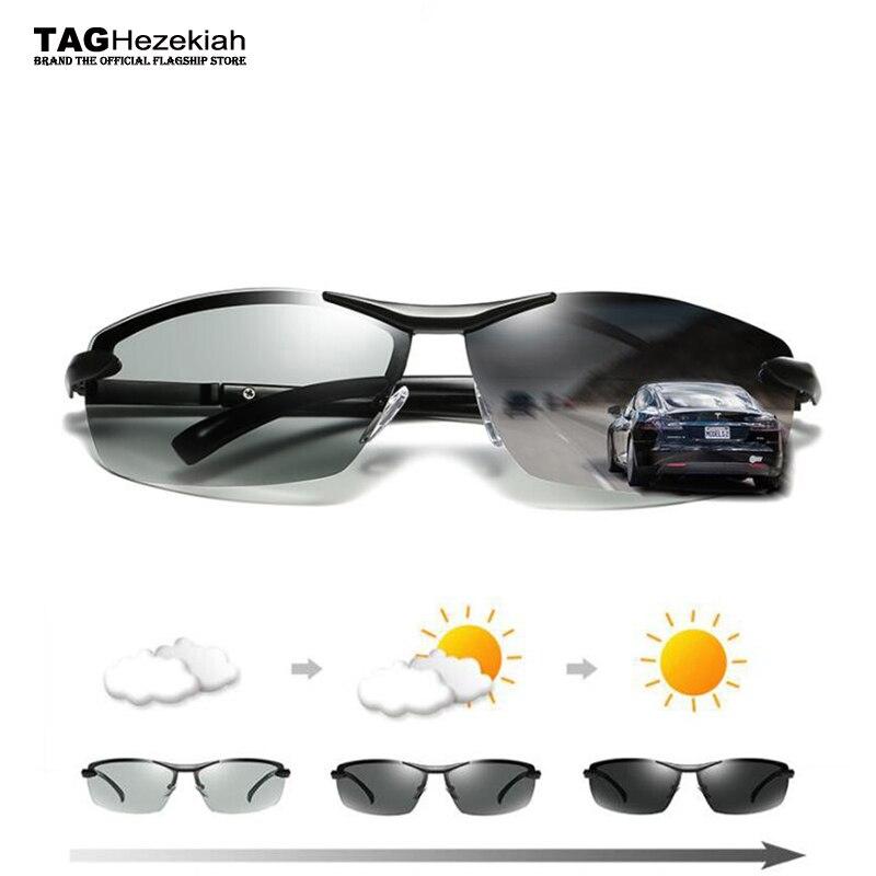 4e29ac8b69 2018 vintage Driving Photochromic Sunglasses Men Polarized Chameleon  Discoloration Sun glasses for men oculos de sol masculino