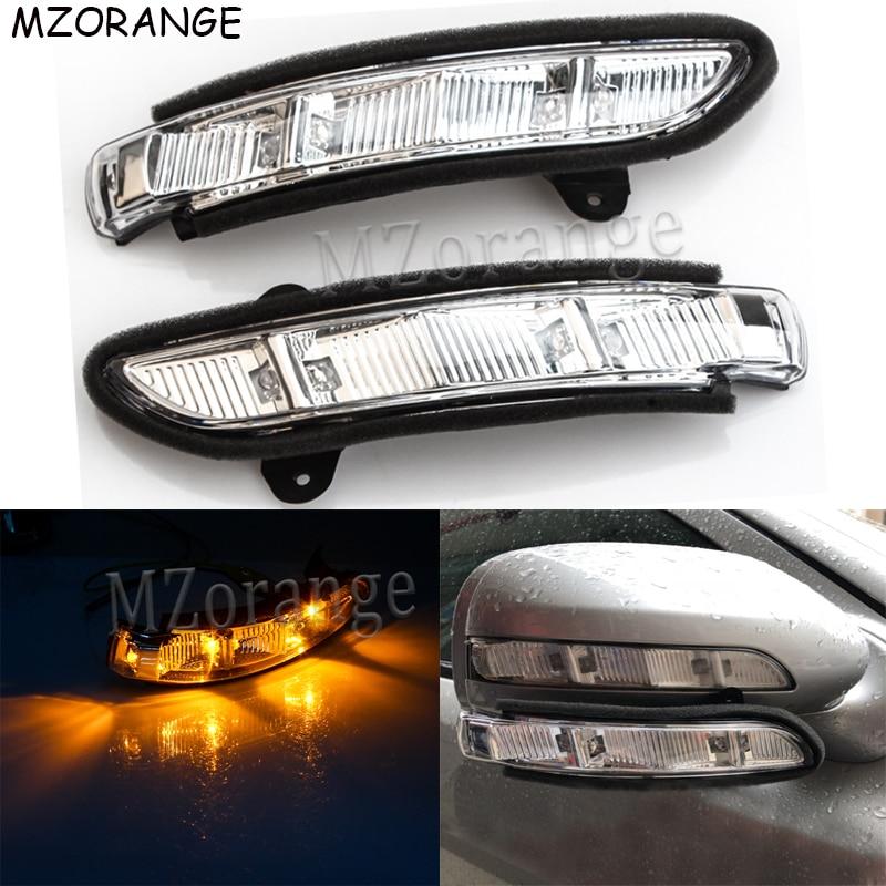 Para Mercedes Benz-W211 W221 W219 2007-2011 E320 E350 E550 E63 S600 S550 vista Traseira Espelho Lateral repetidor de Sinal da volta LEVOU Luz