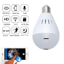 Kruiqi 360 Degree Wireless IP Camera 960P Bulb Light FishEye HD Smart CCTV 1.3MP Home Security WiFi Panoramic