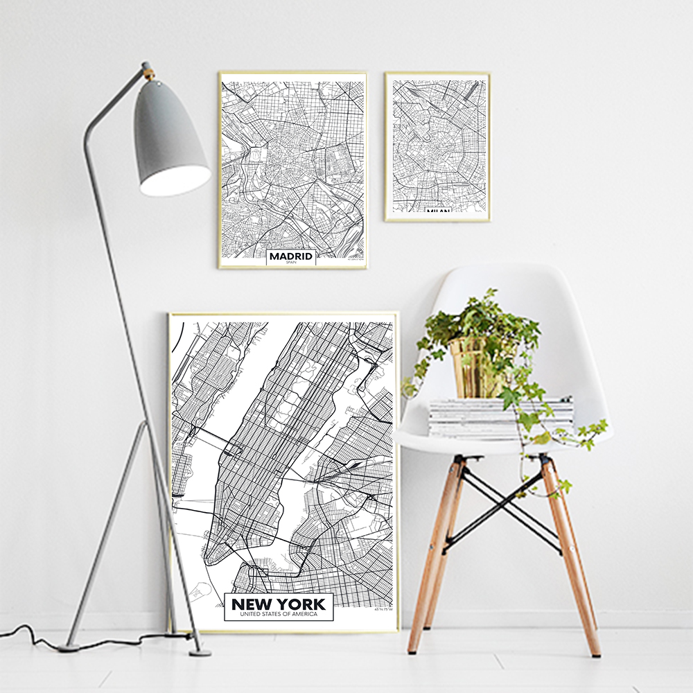 Salon Style New Yorkais us $5.58 31% off|cuadros decoracion salon new york posters and prints  canvas style painting wall art scandinavian pictures decor for  home|painting &