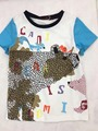 24 Color Catimidi girls Bear the fox printed letters T-shirt  Children's tee tops Wholesale 2017