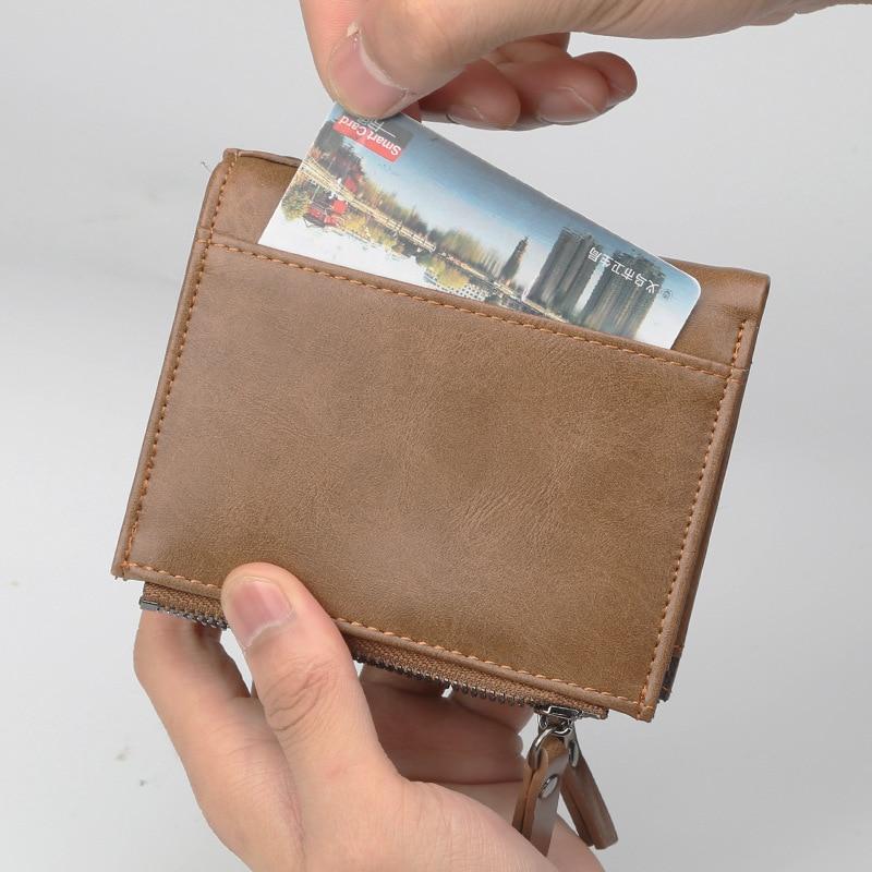 2018 New Baellerry Men Short Wallets Business Casual Zipper Small Wallet Multi Function Cards Purse Money Bag Carteira Masculina