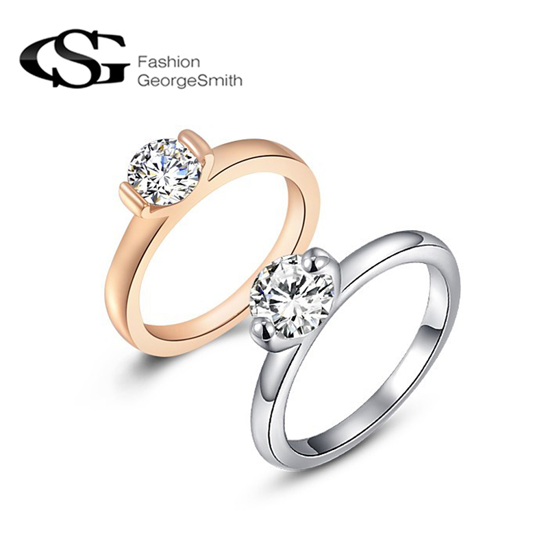Practical Gs New Fashion Jewelry For Women Wedding Rings Rose Gold Color Jewelry Crystal Item Engagement Ring Vintage Jewelry R4