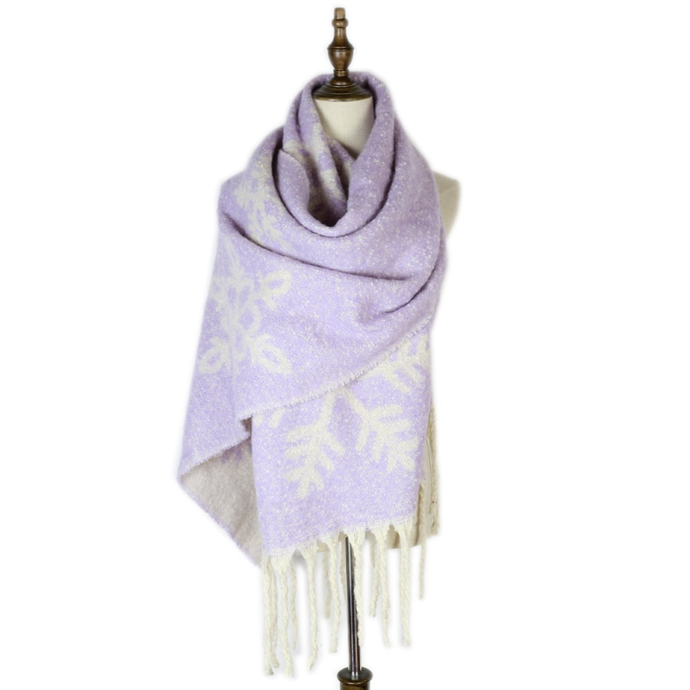 Snowflake shawls stoles fashion cashmere loop yarn mujer warm   scarf     wrap   jacquard winter capes   wraps   christmas gifts for teacher