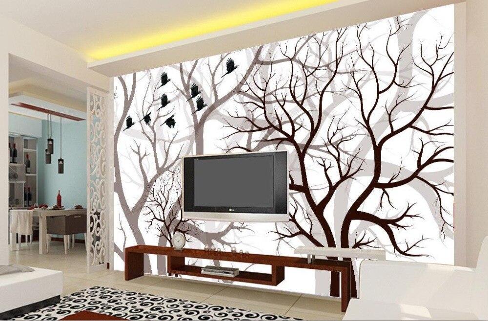 ᑐpersonnalise 3d Photo Wallpaper Chambre Murale Abstraite Arbre