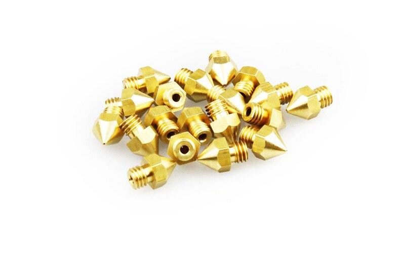 HEIßER Verkauf 6 stücke 0,2/0,3/0,4/0,5/0,6/0,8mm Hotend MK8 Extruder Düse für 3D Drucker Teile Hotend Für Creality CR-10/10 s Ender-3