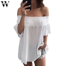 Charm Demon Women Off Shoulder Tops Short Sleeve