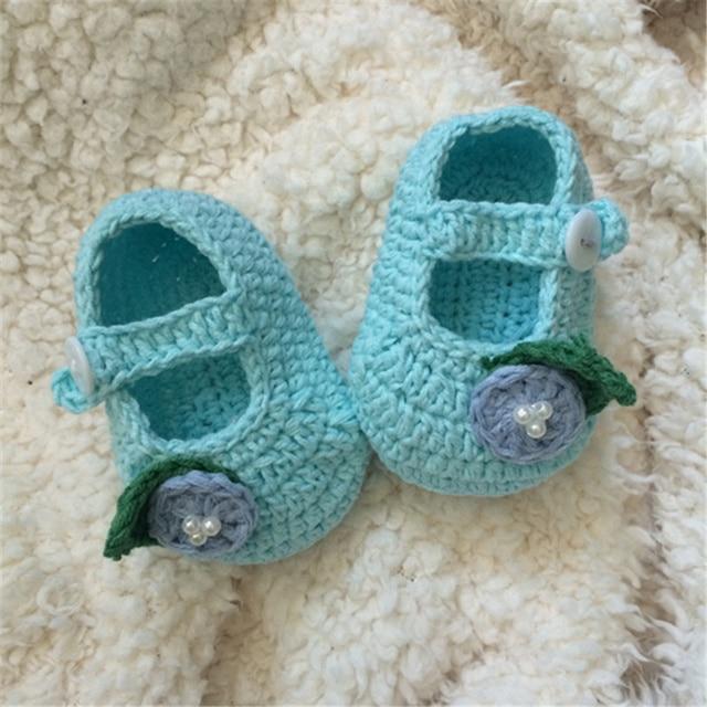 Qyflyxue Häkeln Baby Sandalen Baby Gladiator Sandalen Baby Flip