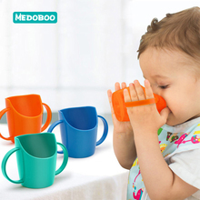 Medoboo Baby Training Water Bottle Safety BPA Free Children PP Drinking Feeding Cup Bevel Mouth Leakproof Kids *