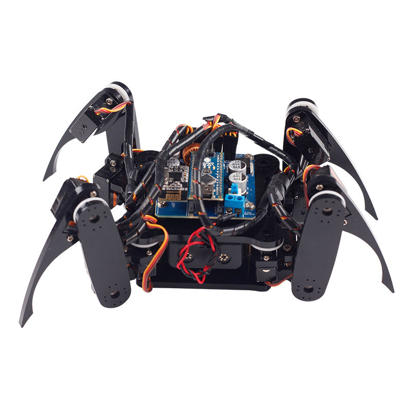 SunFounder Wireless Telecontrol Crawling Quadruped Robot Kit for font b Arduino b font Nano Electronic Diy