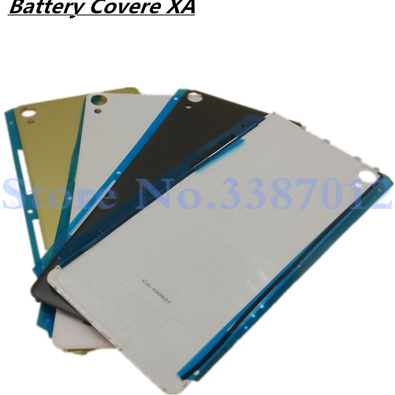 <font><b>Battery</b></font> Cover For <font><b>Sony</b></font> <font><b>Xperia</b></font> <font><b>XA</b></font> F3111 F3113 F3115 Rear Back Housing <font><b>Case</b></font> With Logo Replacement Parts image