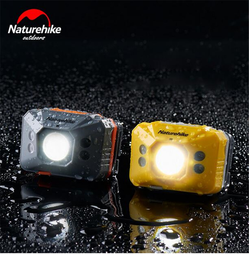 Naturehike LED Headlamp 4 Modes Headlight Sensor Light Ultralight Waterproof Camping Running Hiking Reading USB Cable Include in Outdoor Tools from Sports Entertainment