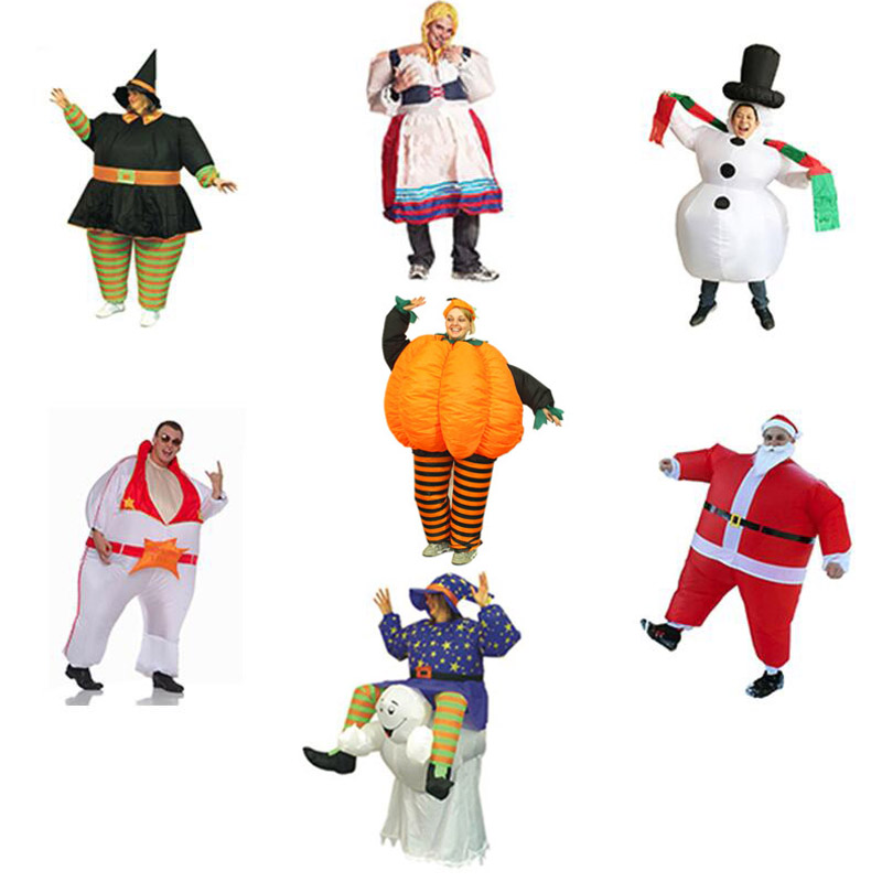 Maid Inflatable Costume Ghost Evil Pumpkin Costumes Singer The King Santa Claus Costume Party carnival costumes for women men
