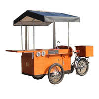 Commercial electric street coffee bike mobile food trailer food cart truck on sale