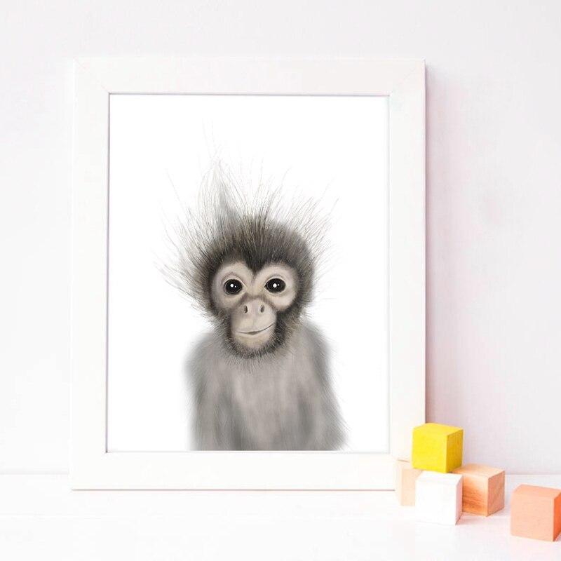 animal canvas art print kids room decor