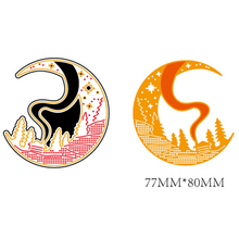 AZSG Moon Cutting Dies For DIY Scrapbooking Card Making Decorative Metal Die Cutter Decoration