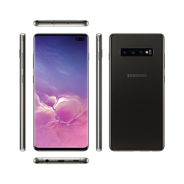 Galaxy S10 + 6,4 Display infinito pantalla ultrasonido huella dactilar ID 8G ROM de carga inalámbrico