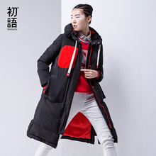 Toyouth Winter Cotton Padded Long Parka Coat Women 2017 Medium Long Patchwork Hoodies Winter Coat Women