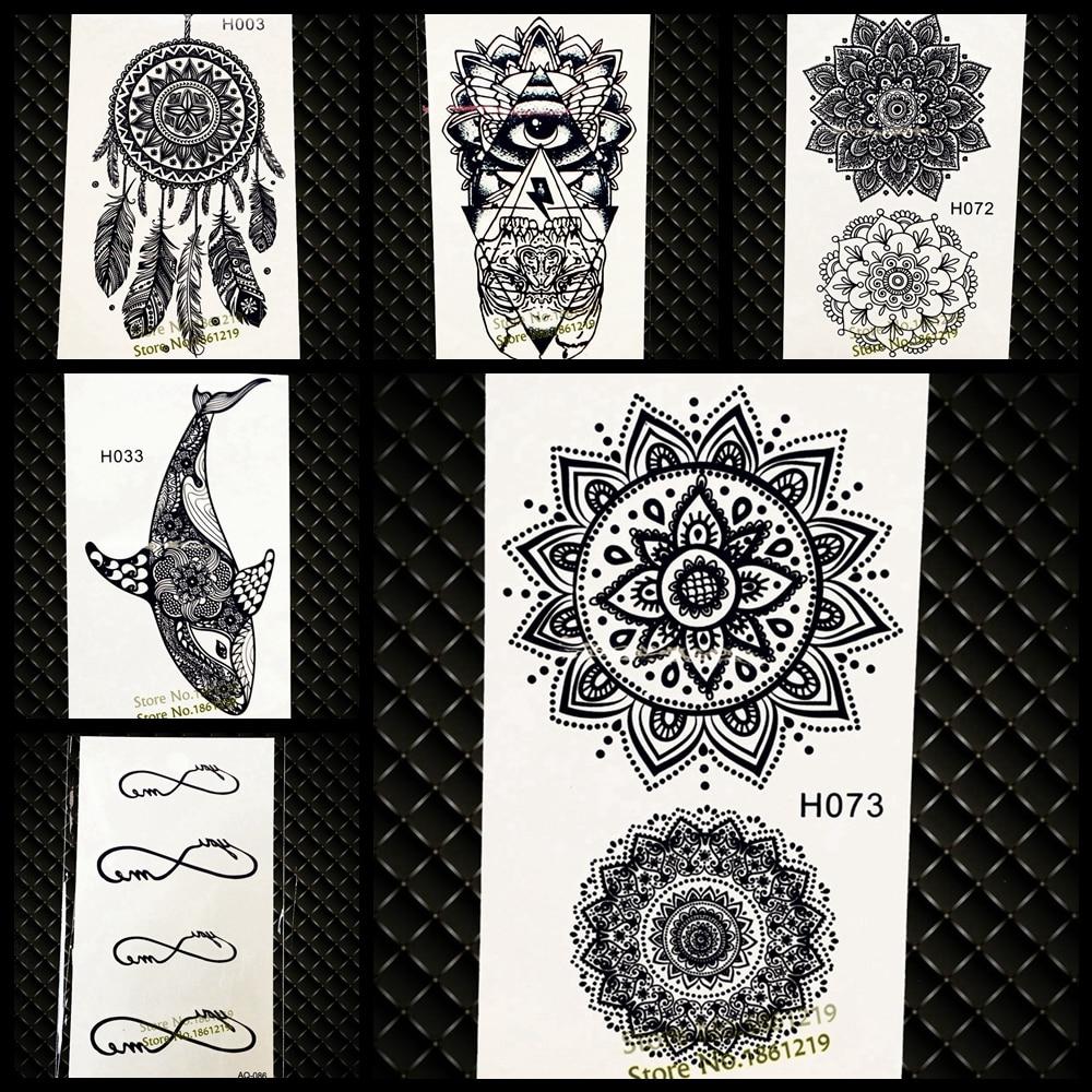 Waterproof Temporary Tattoo Sticker Women Flash Tattoo Mandala Design 5