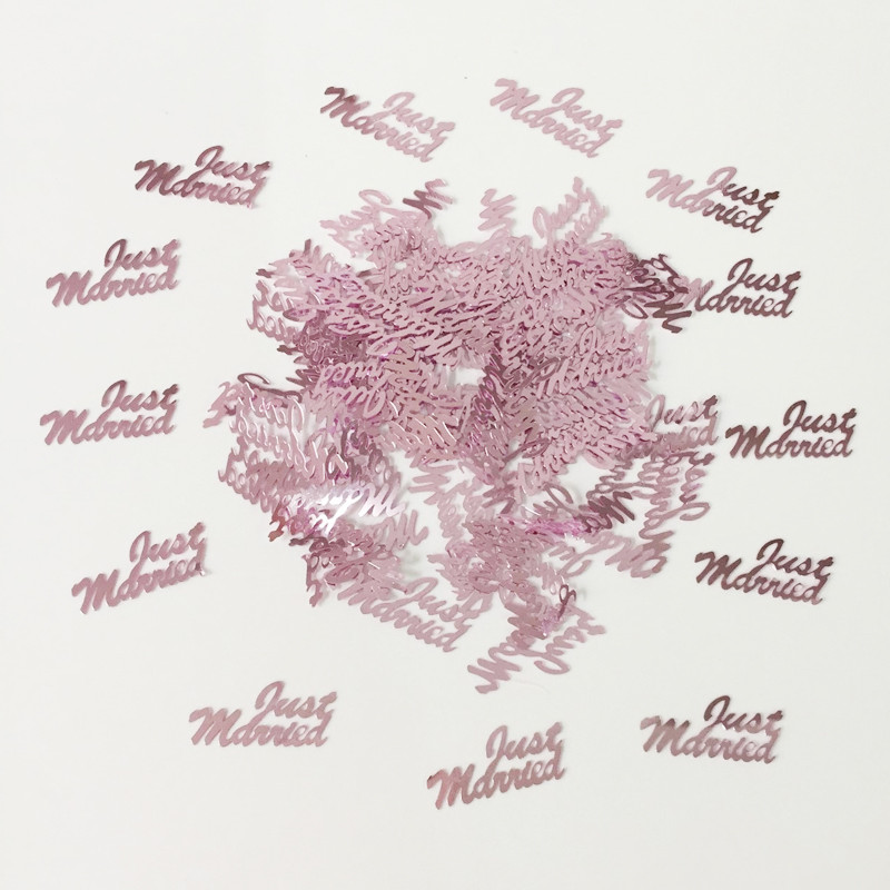 JUST MARRIED WEDDING TABLE CONFETTI FOIL SCATTER SPRINKLES PARTY TABLE CONFETTI