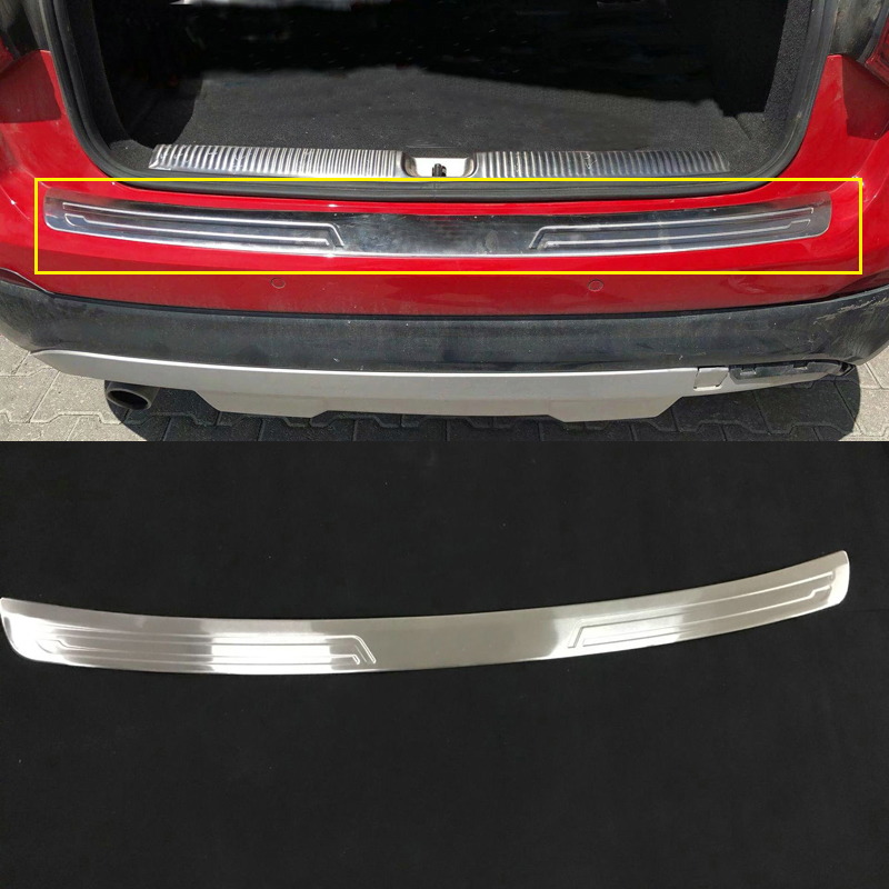 For Audi Q2 2017 2018 Car Styling Stainless Steel Rear Bumper Protector Guard Plate Sill Cover Trim 1pcs