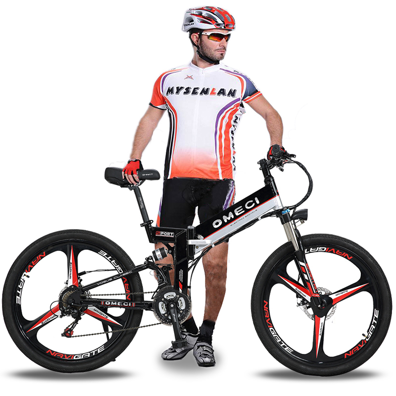 26 inch folding e bike electric mountain bike 48v li ion battery Custom Electric Scooter 26 inch folding e bike electric mountain bike 48v li ion battery 350w high speed brushless motor ebike hidden battery 21 speed in electric bicycle from