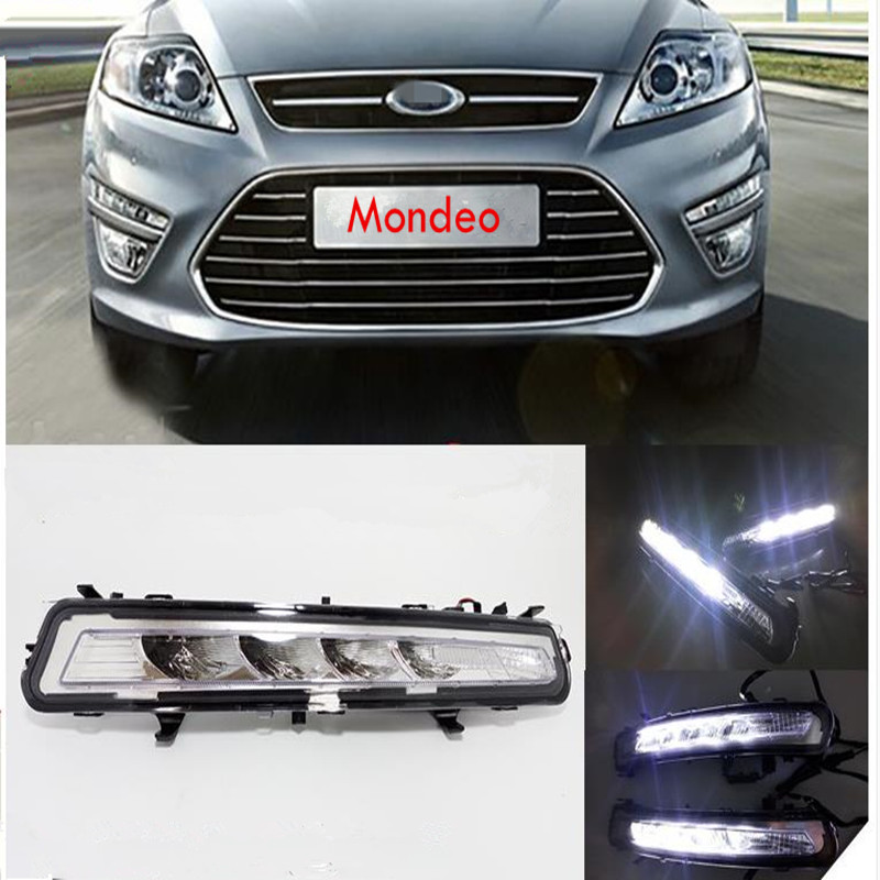 Chrome High Power  L Shape DRL LED Lights Lamps Pair For Seat Leon