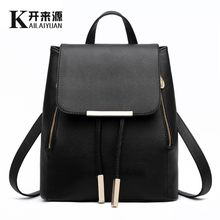100% Genuine leather Women backpack 2019 New wave of female Korean student fashion casual backpack shoulder bag(China)