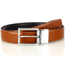 Korea design fashion  spring leather belt for men pin buckle double face mens belts vintage alloy cowhide strap black cinto
