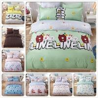 Cartoon Animal Kids Bed Linen Cotton 3/4 pcs Bedding Set Single Double Queen King Size Duvet Cover 160x200 180x220 Bedlinen 1.8m