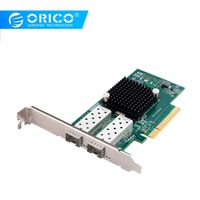 ORICO PCIE 2 Port 10 Gigabit Network Adapter INTEL82599ES Chip PCI Express Network Card Compatible with X16 slot Switch For Win7