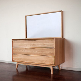 Bon Japanese Style Wood Furniture Dodge Scandinavian Modern Style Oak Dresser  Dressing Table Three Lockers Drawers