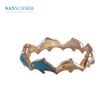 Sansummer New Hot Fashion Cute Dolphin Simple Japanese And Korean Wind Diameter 17.5cm Ring Woman Jewelry
