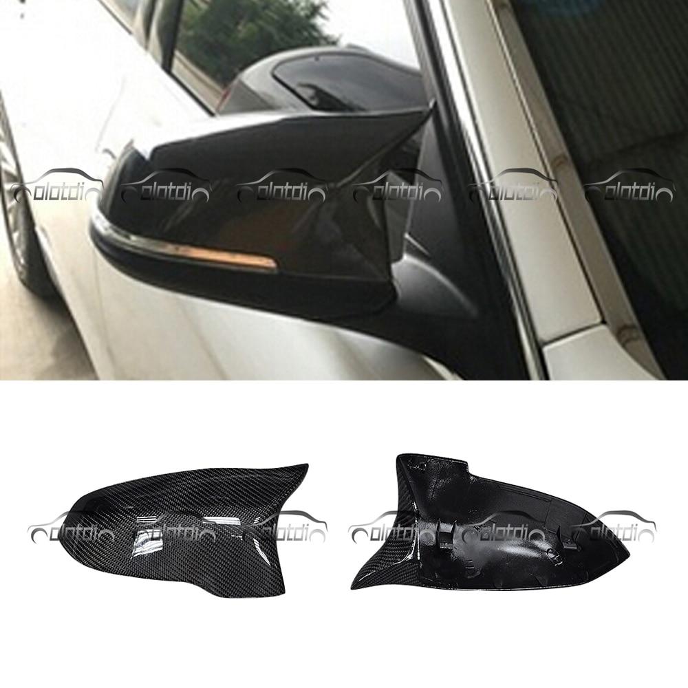 14-16 BMW F10//F11 535 550 528 LCI Carbon Fiber Rear Side Mirror Caps Replacement