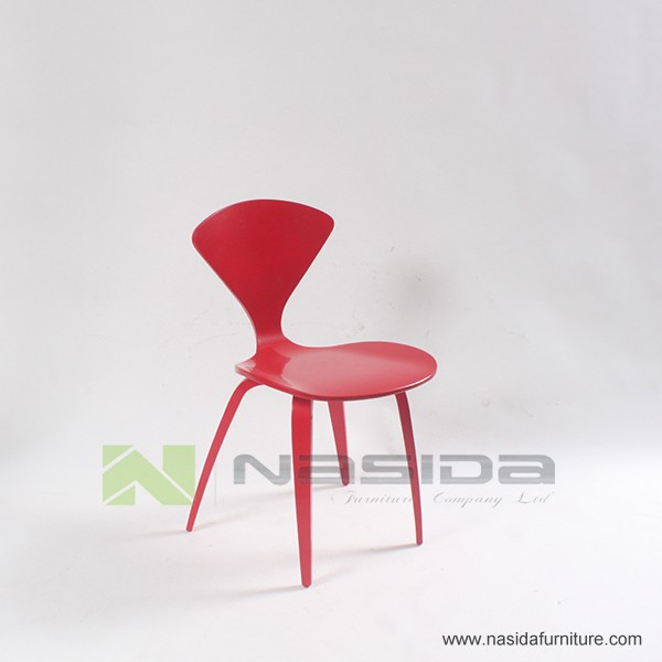 CH177 Natural side chair walnut or ash wooden Norman Cherner Chair Plywood chairs red black white dining chair free shipping
