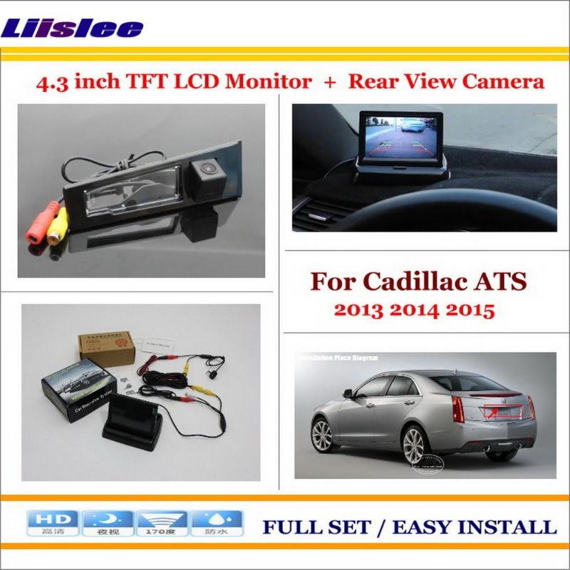 Liislee для Cadillac ATS 2013 2014 2015 камера заднего вида автомобиля + 4,3