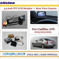 Liislee For Cadillac ATS 2013 2014 2015 Car Rearview Camera + 4.3 LCD Screen Monitor = 2 in 1 Parking Assistance System