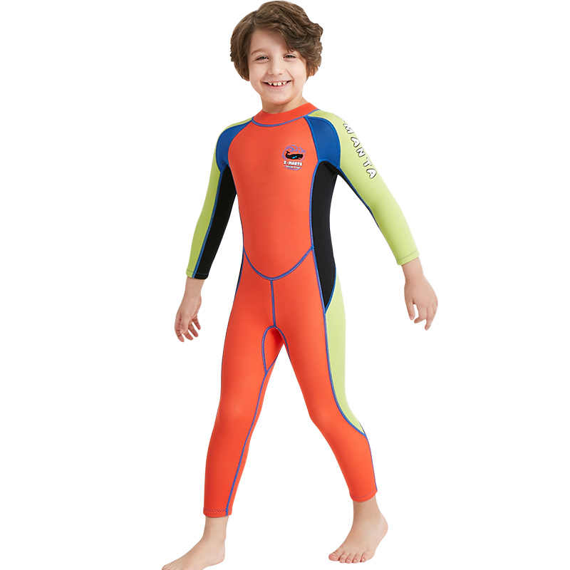 Kids Wetsuit Neoprene 2.5mm Diving Swimming Snorkeling Surfing Suits Orange  Boy s Girls Youth Full Body 0aec0984f