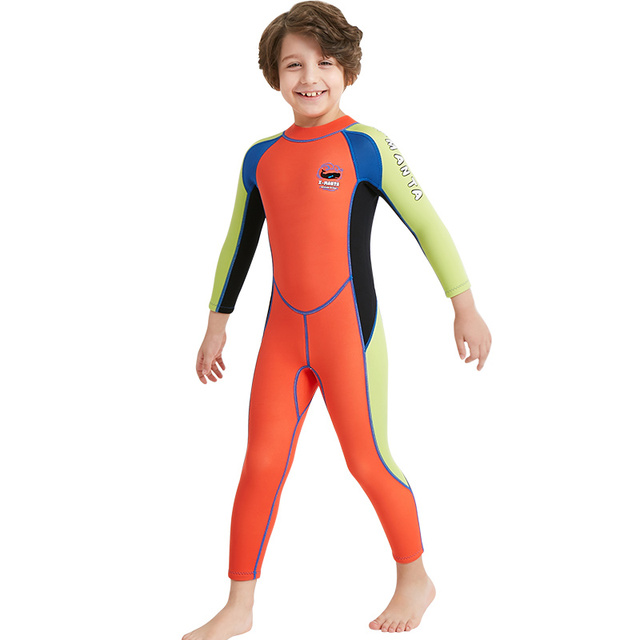 c74a2df033c Kids Wetsuit Neoprene 2.5mm Diving Swimming Snorkeling Surfing Suits Orange  Boy's Girls Youth Full Body