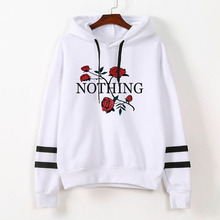 New Rose Fashion Clothes Hoodie Valentine Women Sweatshirt Hoodies Love Black Plus Size Korean Gothic