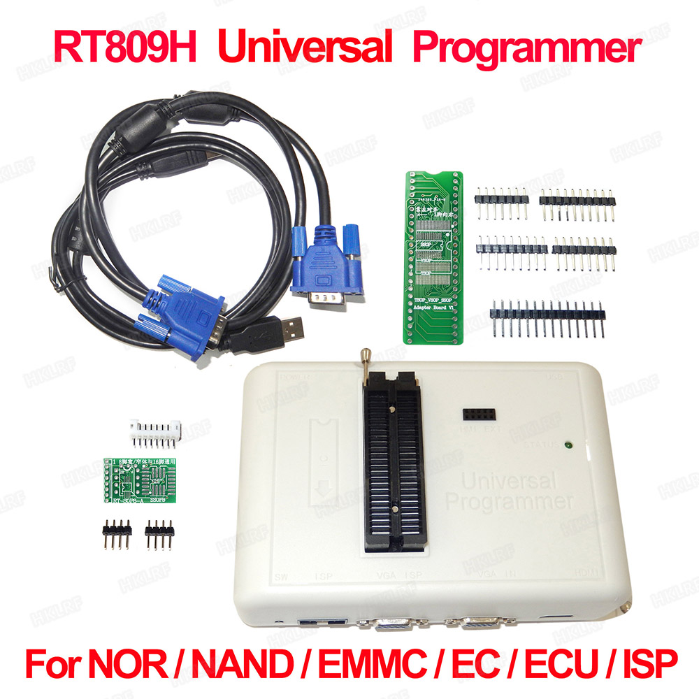 2019 Original New RT809H EMMC Nand FLASH Extremely Fast Universal Programmer WITH CABELS EMMC Nand Good