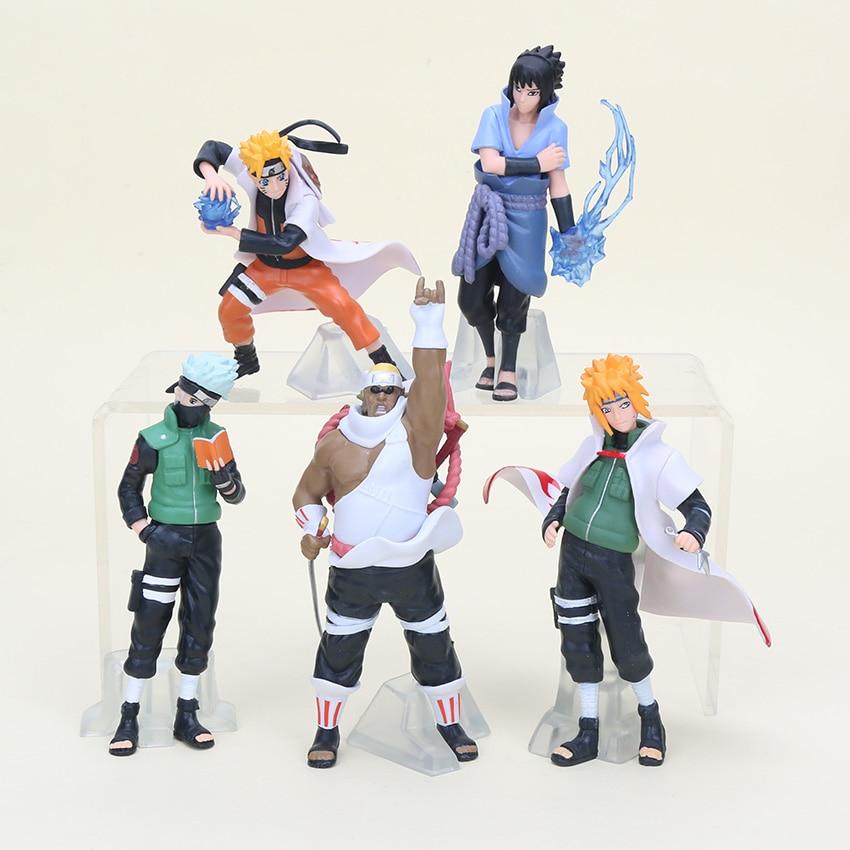 5pcs/set Naruto Action Figures Toys Japan Anime Naruto Sasuke Figurines Collection PVC Model Toy for Anime Lover  12cm N074 9pcs set kuroko no basket q version figures with basketball 7cm japan anime pvc action figures kids hot toys for children boys