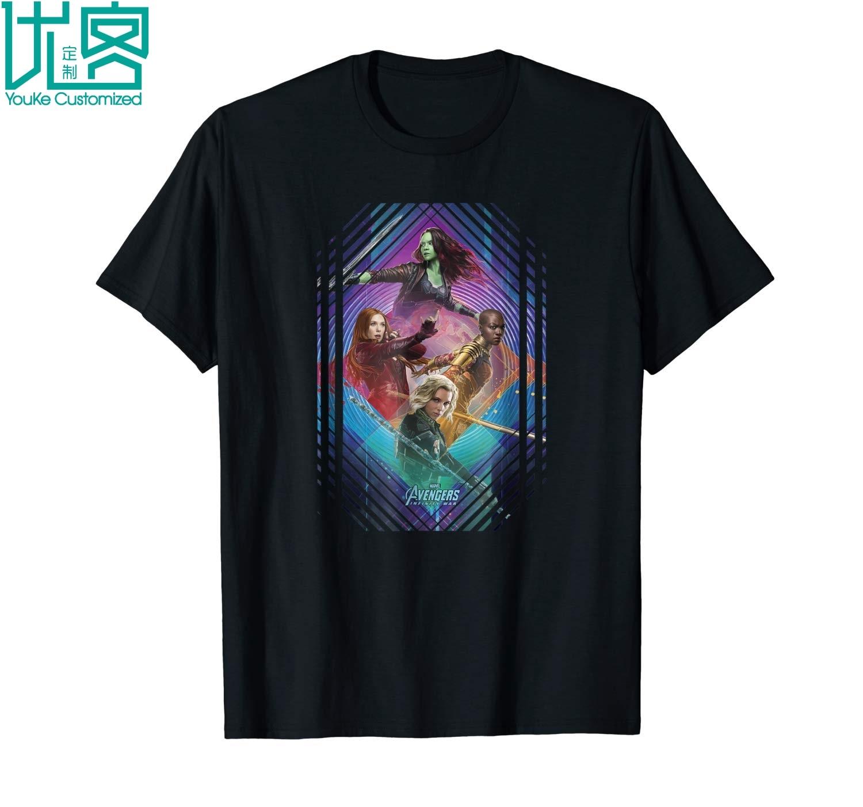 Marvel Infinity War Gamora Okoye Black Widow T Shirt 2019 Summer Men's Short Sleeve T-Shirt