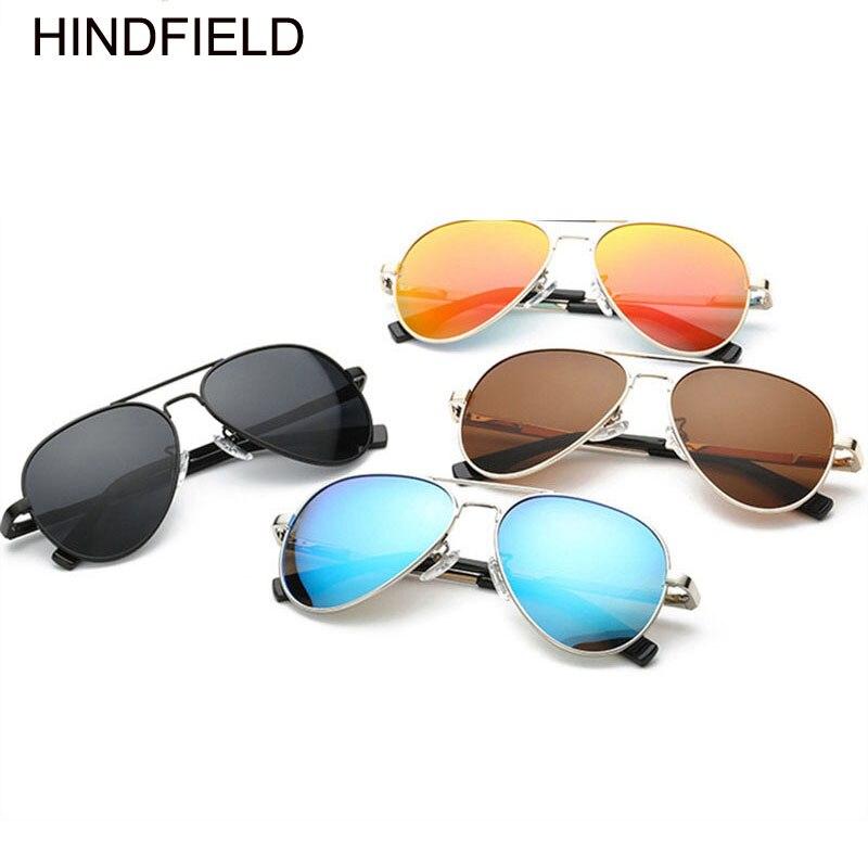 Modes polarizētie bērni spoguļu saulesbrilles zēni meitenes klasisks dizains sudraba rāmis zils objektīvs pilots saules brilles bērniem