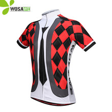 WOSAWE Grid Bicycle Cycling Jersey 2019 Men Short Sleeve Bike Clothing Top Maillot Summer Breathable Tights Downhill MTB Jersey nuckily summer mens bicycle apparel breathable phoenix eyes long sleeve cycling jersey with tights suit mc010md010